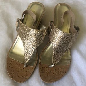 Nicole gold wedges